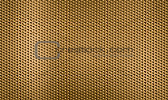 golden metal grid or grate background