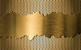 golden metal grate background