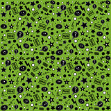 Endless atypical pattern on a green background
