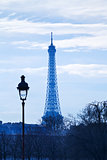 eiffel tower in Paris on blue sunset