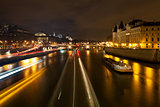 Pont au Change in Paris at night