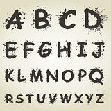 Alphabet a blot
