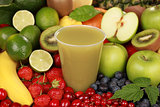 Juice made from green fruits