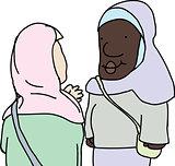 Muslim Ladies Talking