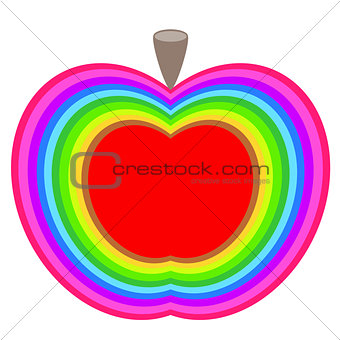 Apple colorful illustration