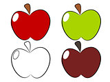 Apple draw illustration