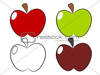 Apple draw illustration