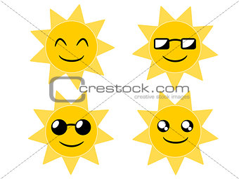 Sun cartoon illustration