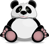 cute fat panda