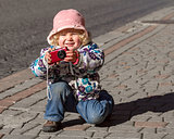 the little girl-photographer