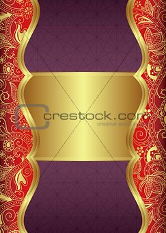 Abstract Menu Design Background