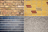 Set of brick wall backgrounds
