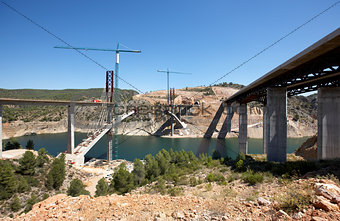 Bridges under construction