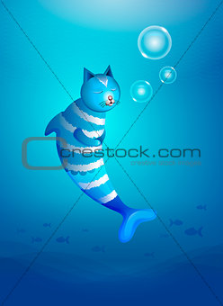 cat fish in the sea
