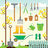 Cute spring gardening set