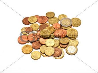 A few euro coins
