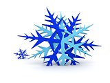 Blue Snowflakes  - Computer Art 3D Series