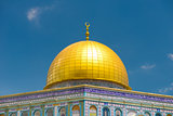 Mosque Dome of the Rock on the Temple Mount, Jerusalem, Israel