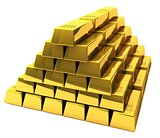 Bunch of gold bars