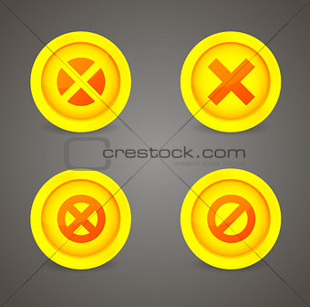 Set of glossy icons