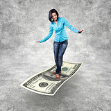 Girl on a money