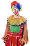 Portrait of a surprised clown