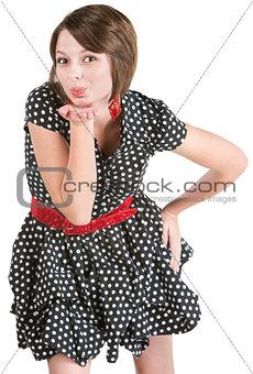 Cute Woman Blowing Kisses
