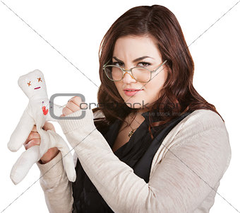 Mad Lady Sticking Doll