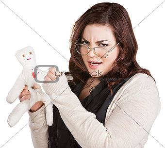 Offended Lady with Voodoo Doll