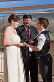 Cute Lesbian Couple Marriage
