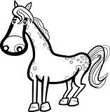 horse farm animal cartoon for coloring