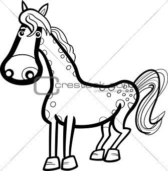 horse farm animal cartoon for coloring