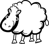 sheep farm animal cartoon for coloring