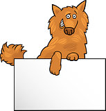 cartoon dog with board or card design
