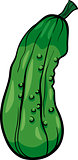 cucumber vegetable cartoon illustration
