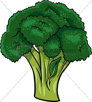 broccoli vegetable cartoon illustration