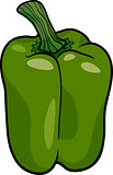 green pepper vegetable cartoon illustration