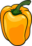 yellow pepper vegetable cartoon illustration