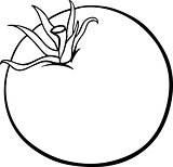 tomato vegetable cartoon for coloring book