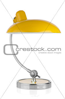 Retro yellow table lamp