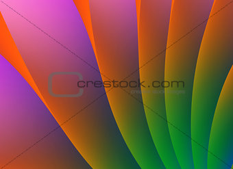 Abstract Background leaf curve concept