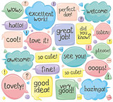 Handwritten Phrases In Speech Balloons