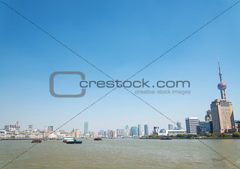 view of shanghai river in china