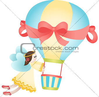 Flying fairy hot air balloon