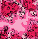 Valentine day`s love hearts banner
