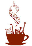 Musical cup of tea or coffee