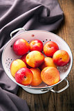 fresh nectarines and plums 