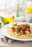 italian pasta with tomato sauce 