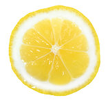 Slice of yellow lemon