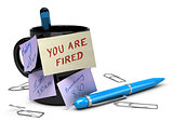 Losing Job Concept, Unemployment, You Are Fired 